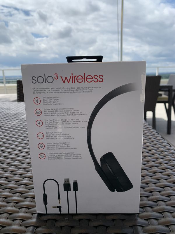 Beats Solo 3 Headphones Matte Black
