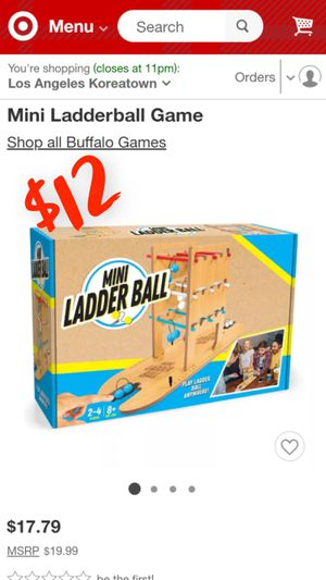 Mini Ladderball Game Adults Kids Child Game Night Holiday Christmas Gift Boy Girl Man Woman / (See My Page for Baby Jordans Shoes and Other Discounte for Sale in Los Angeles, CA