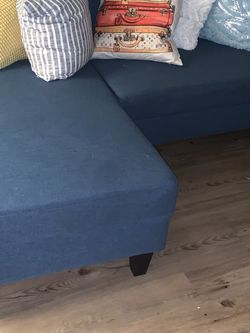 Modern Teal Couch with pillows for Sale in Atlanta,  GA