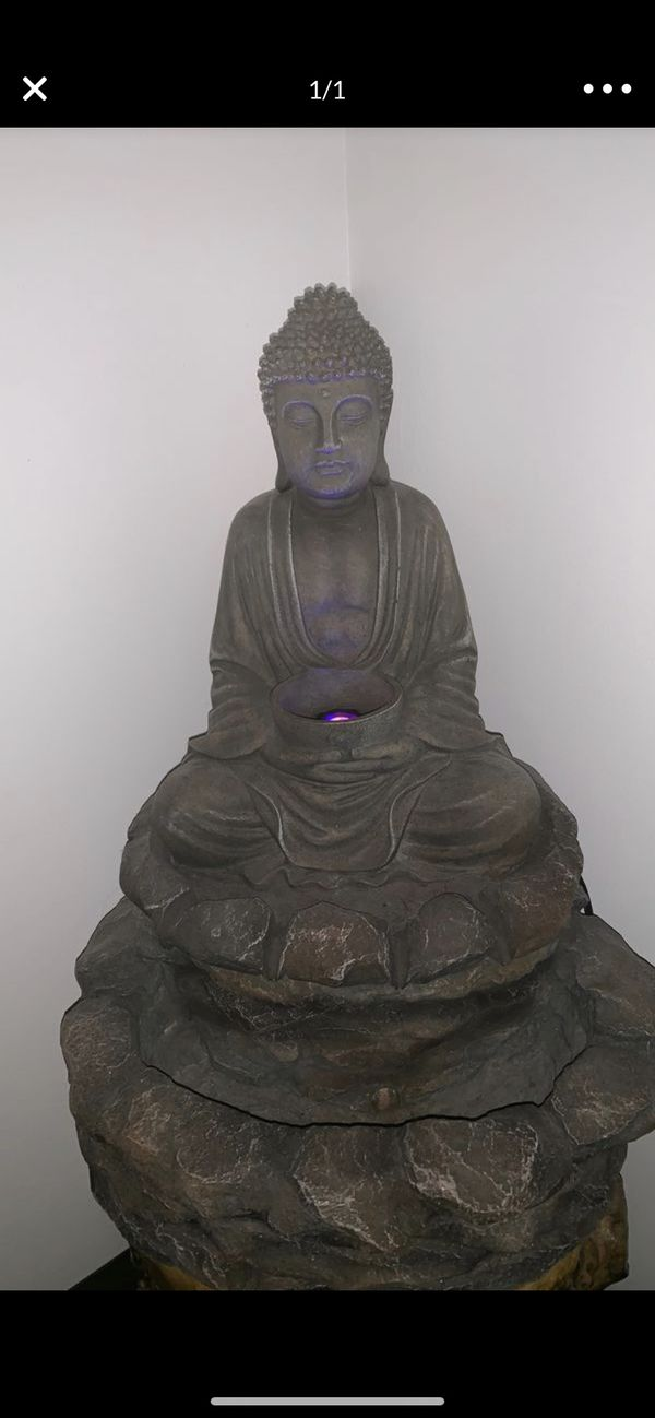 Working lotus Buddha indoor/outdoor fountain with working LED lights