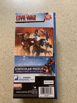 Marvel civil war captain America puzzle for Sale in Everett, WA