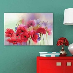 ((FREE SHIPPING)) Canvas wall art - red and purple flowers modern home decor Painting like print for Sale in New York, NY