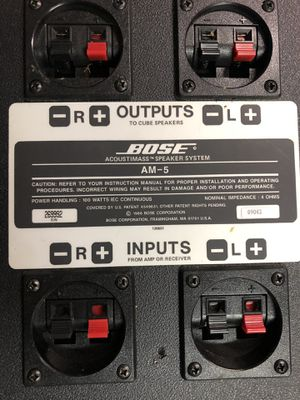 BOSE AM-5 ACOUSTIMASS SPEAKER SYSTEM - Cube Speakers & Subwoofer for Sale in Pico Rivera, CA