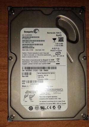 """Seagate Barracuda 7200.9 160GB 3.5"""" SATA Hard Disk Drive HDD ST3160812AS for Sale in Queens, NY"""