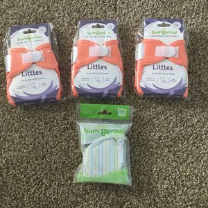 Bumgenius Newborn Cloth Diapers with Wet Bag for Sale in Feasterville-Trevose, PA