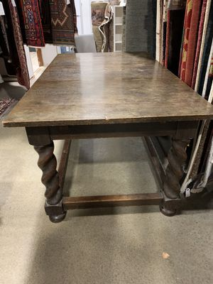 Antique spiral legs oak or mahogany table for Sale in Bellevue, WA