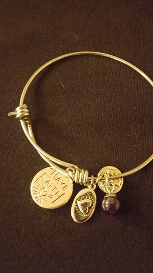 Silver Faith bracelet for Sale in Hemet, CA