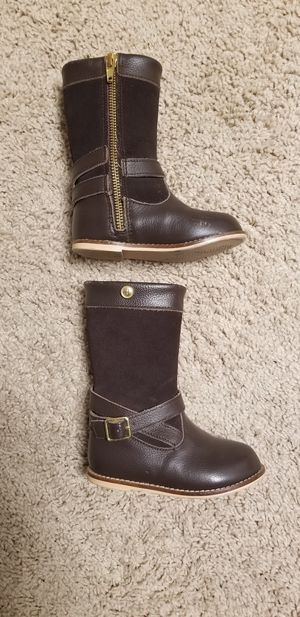 Janie and Jack girl's size 6 leather riding boots for Sale in Manteca, CA