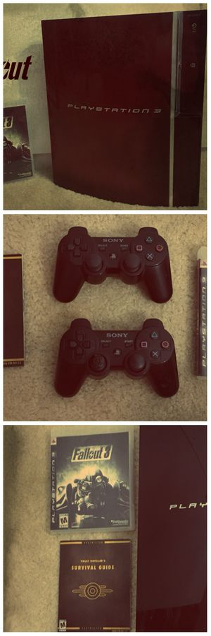 PlayStation 3 Fallout 3 Bundle! (Ps3 play station videogame video game console 2 controllers chargers christmas gift present) for Sale in Phoenix, AZ