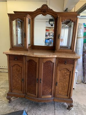Antique China Cabinet with Marble Top for Sale in Irvine, CA
