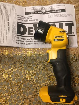 DEWALT. 20V Max Lithium-Ion 160-Lumen LED Cordless Worklight. DCL040. for Sale in Brooklyn, NY