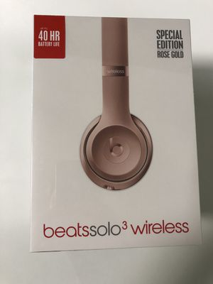 Beats Solo 3 Wireless On-ear Headphones, Special Edition Rose Gold for Sale in Houston, TX
