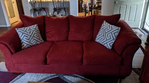Cardinal Red sofa & love seat for Sale in Gilbert, AZ