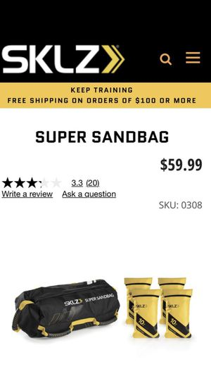 Sand bag - Adjustable weight - paid over $60 for Sale in Costa Mesa, CA
