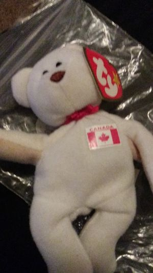 Very rare teenie beanie babie maple the bear has error tag says 93 but released 96 ebay selling themfor lot$ for Sale in Wichita, KS