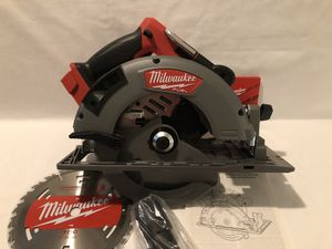 """Brand new never used Milwaukee M18 fuel brushless 7-1/4"""" blade circular saw. Retails for $249 tool only for Sale in Vacaville, CA"""