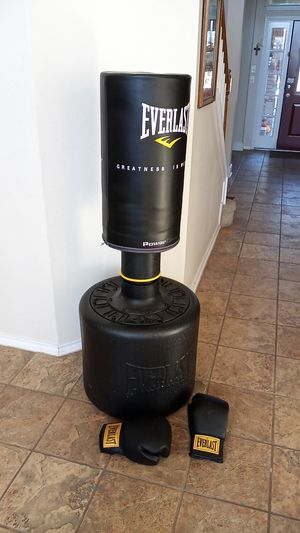 Everlast boxing dummy with gloves for Sale in San Antonio, TX