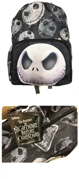 NEW! Disney the nightmare before Christmas jack Skellington Backpack Mickey Disneyland travel bag book bag Halloween haunted mansion travel bag for Sale in Carson, CA
