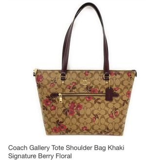 New coach flower print tote bag for Sale in Crystal Lake, IL