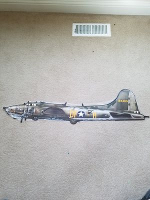 B17 flying fortress bomber memphis belle WWII plasma steel metal sign for Sale for sale  Vancouver, WA