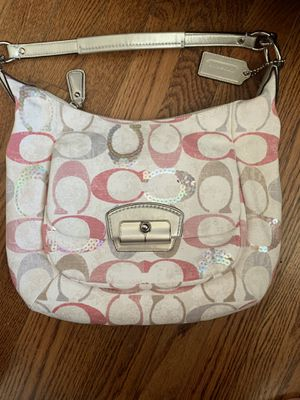 PINK, SILVER & CREAM GENUINE COACH PURSE NWOT for Sale in St. Louis, MO