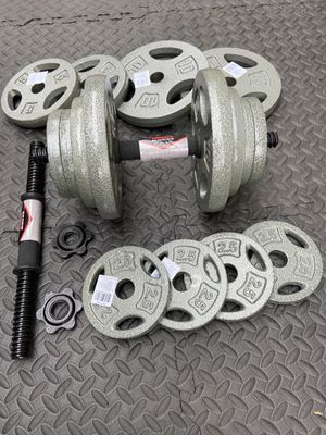 New adjustable dumbbells set 80 lbs for Sale in Los Angeles, CA