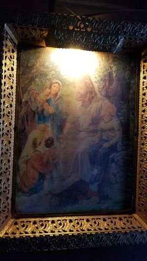 Vintage mid century holographic light up jesus frame for Sale in Ravensdale, WA