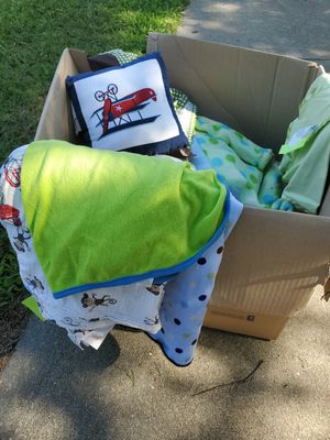 FREE Box of Baby Blankets, Pillows, etc from Boutique for Sale in Garner, NC