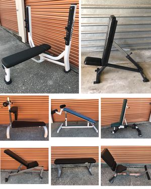 Dozens Of Commercial Weight Benches- Flat, Adjustable, Fixed, Olympic, Utility ect for Sale in Davenport, FL