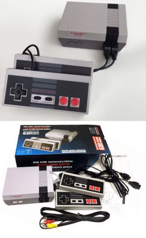 New in box generic classic like nintendo game console built in 620 classic games with 2 controllers included for Sale in Baldwin Park, CA