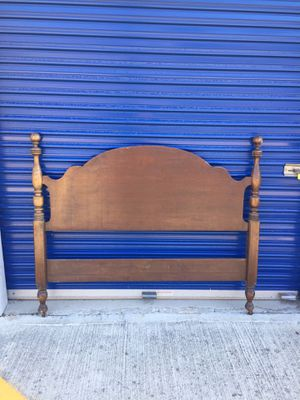 Antique Burkey and Gay Solid Hickory Full Size Headboard Bed for Sale in La Verne, CA
