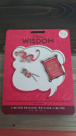 Disney Wisdom Collection Limited Edition Pins Set 2/12 for Sale in Houston, TX
