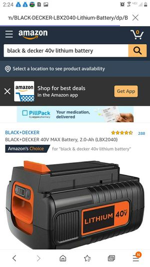 Black & Decker 40v batteries/ chargers too for Sale in Kirklyn, PA