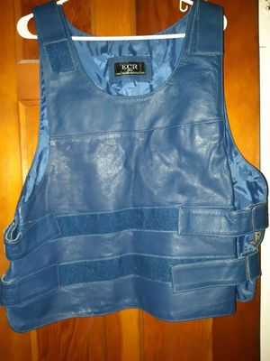 Adjustable strap blue motorcycle vest for Sale in Maple Heights, OH