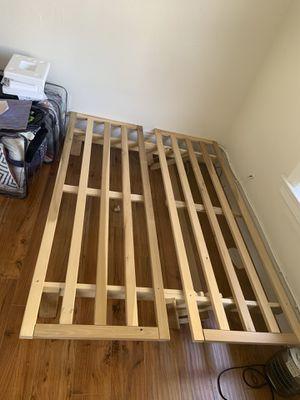 Full size wooden futon frame adjustable for Sale in Oakland, CA