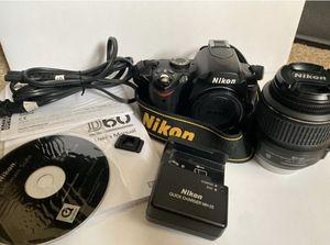 BARELY USED Nikon D D60 10.2MP Digital SLR Camera - Black (Kit w/ 18-55mm Lens & 55-200mm Lens) for Sale in Alpha, NJ