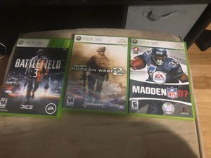 Xbox 360 games 10$ for all for Sale in Seymour, CT