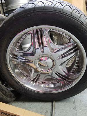 "22"" DUB Wheels Rims Tires Chevy Cadillac GMC Titan Armada for Sale in Los Angeles, CA"