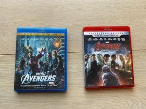 Avengers 1 and 2 Blu-rays for Sale in Bothell, WA