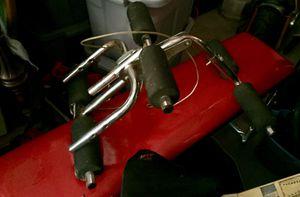 Vintage, Leg Extension/Curl Bench, Adjustable Knee Bar cable machine attachment for Sale in Blackwood, NJ