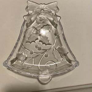 A glass holiday candy dish for Sale in Brick Township, NJ