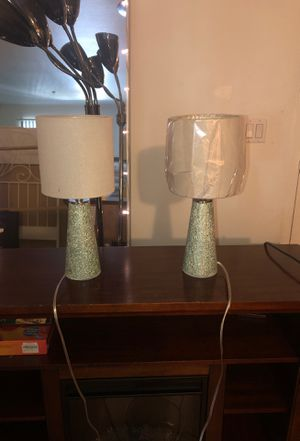 Two cute small turquoise lamps for Sale in Los Angeles, CA