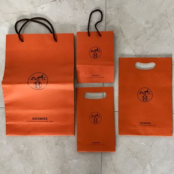 Authentic Hermès of Paris empty gift boxes and shopping bags for accessories in various sizes