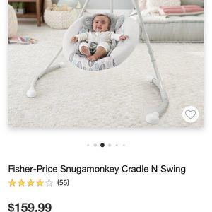 Fisher-Price Snugamonkey Cradle N Swing for Sale in Nottingham, MD