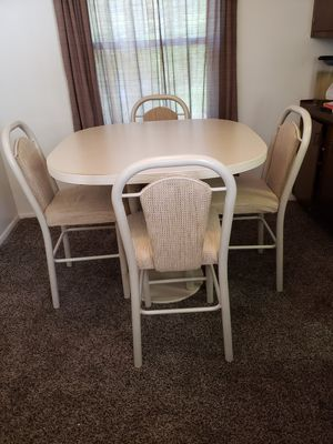 Bar height dining table with 4 stools/chairs for Sale in Medina, OH