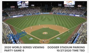 10/27 Dodger World Series Viewing Party @ Dodger Stadium for Sale in Long Beach, CA