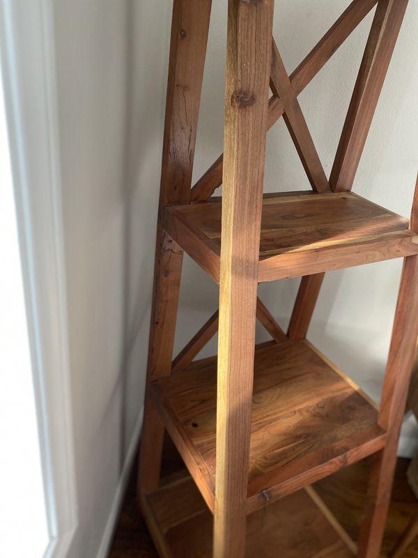 Acacia Wood Tall bookshelf