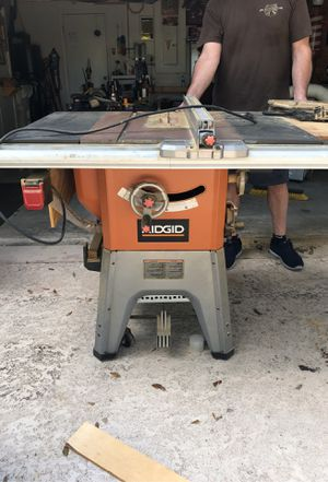 Ridgid table saw for Sale in West Palm Beach, FL