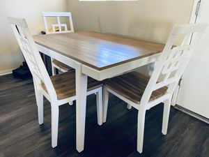Table and Chairs Dining Set White for Sale in Los Angeles, CA