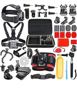 SmilePowo 42-in-1 Accessories Kit for GoPro HERO7 Black/White/Sliver/GoPro Fusion/HERO6 Black /HERO5 Black/HERO Session/HERO4 Black/Silver/AKASO/Camp for Sale in Brooklyn, NY